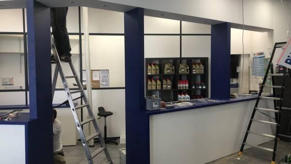 installation de showroom