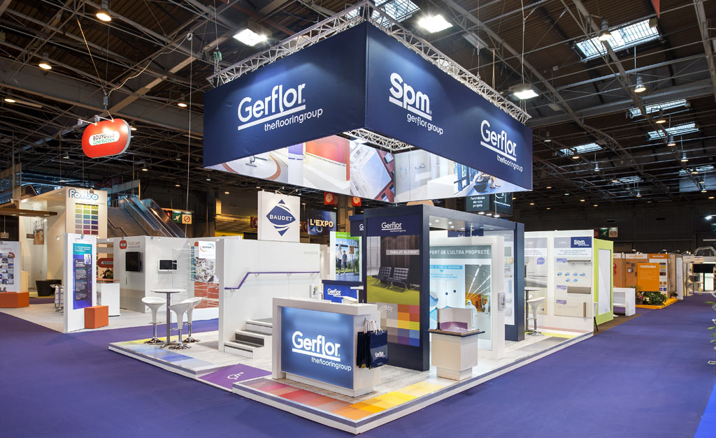 Conception stand salon sur mesure gerflor sant alphaexpo for Stand salon