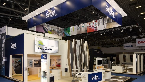 Stand Gerflor au salon international de l'architecture et des matériaux de construction