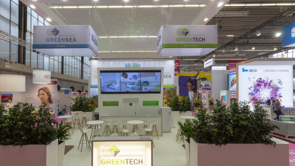 Stand Greentech In cosmetics au salon  RAI à Amsterdam