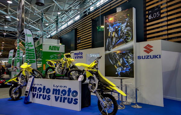 Stand sur mesure au salon de la moto à Eurexpo
