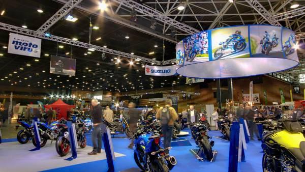 Réalisation stand Suzuki au salon de la moto à Lyon