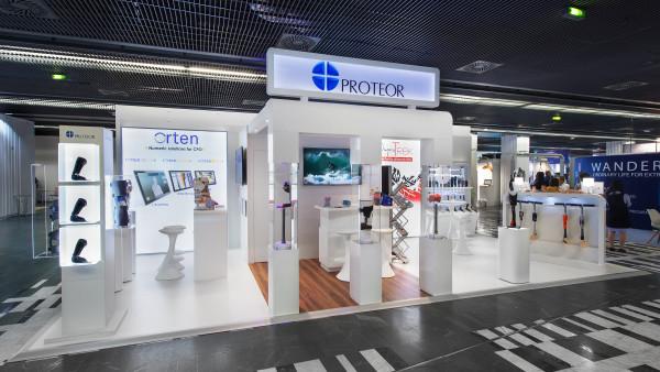 Conception d'un stand Proteor lors du salon ISPRM 2018