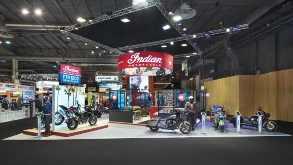 Conception Stand Indian pour le salon du 2 roues